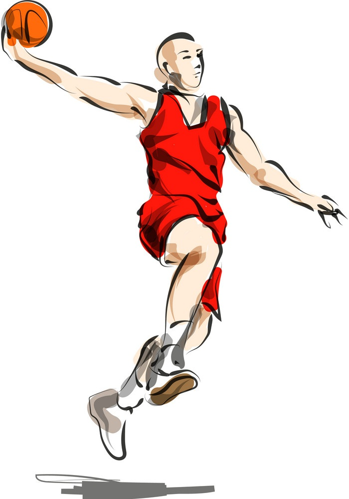 sketch basketball player 1