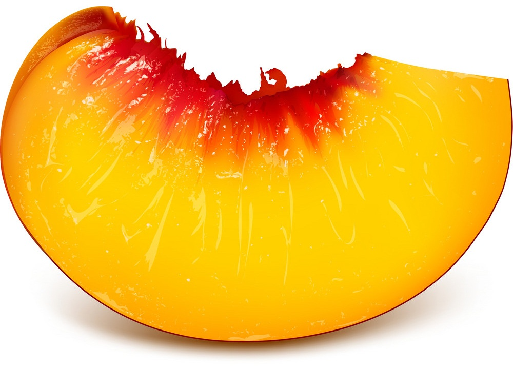 slice of ripe peach