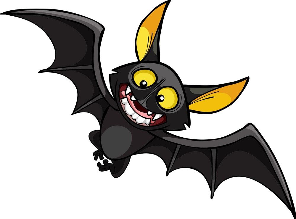 cute bat flying - Clipart World