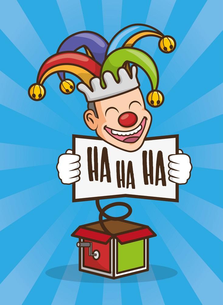 smiling clown box