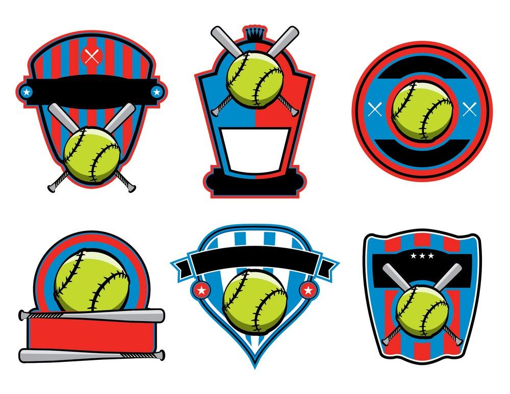 softball badges