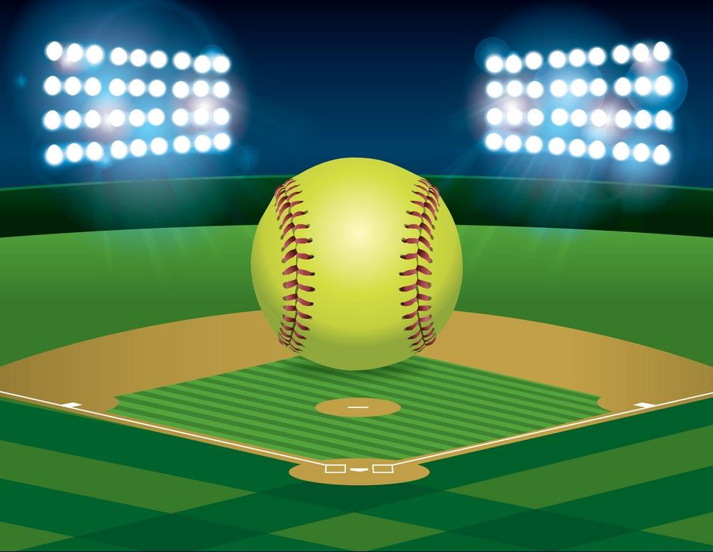 softball ball on stadium