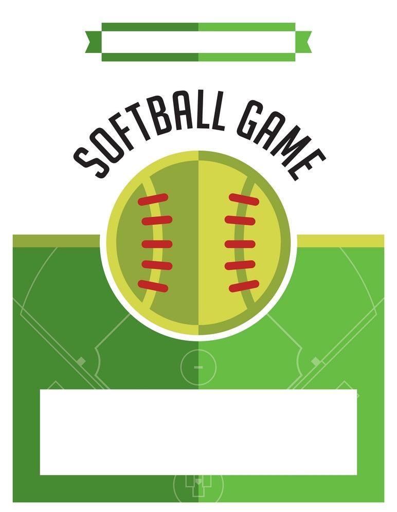 softball game flyer
