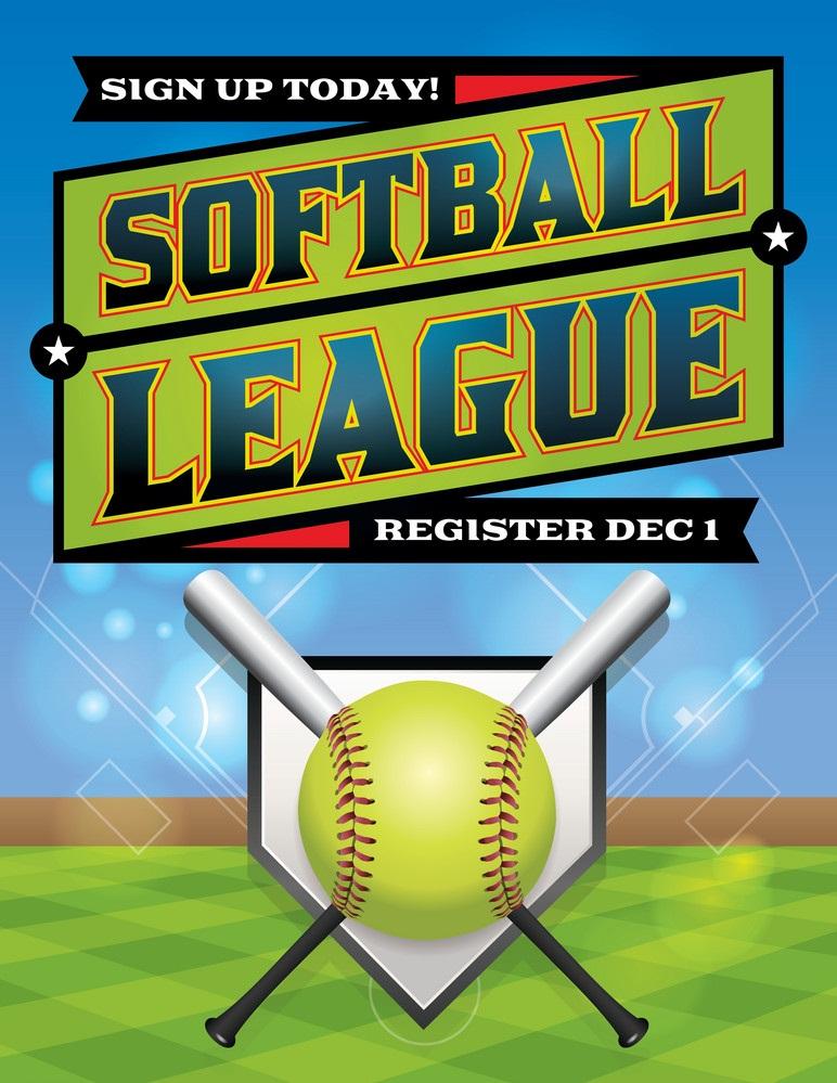 softball league banner