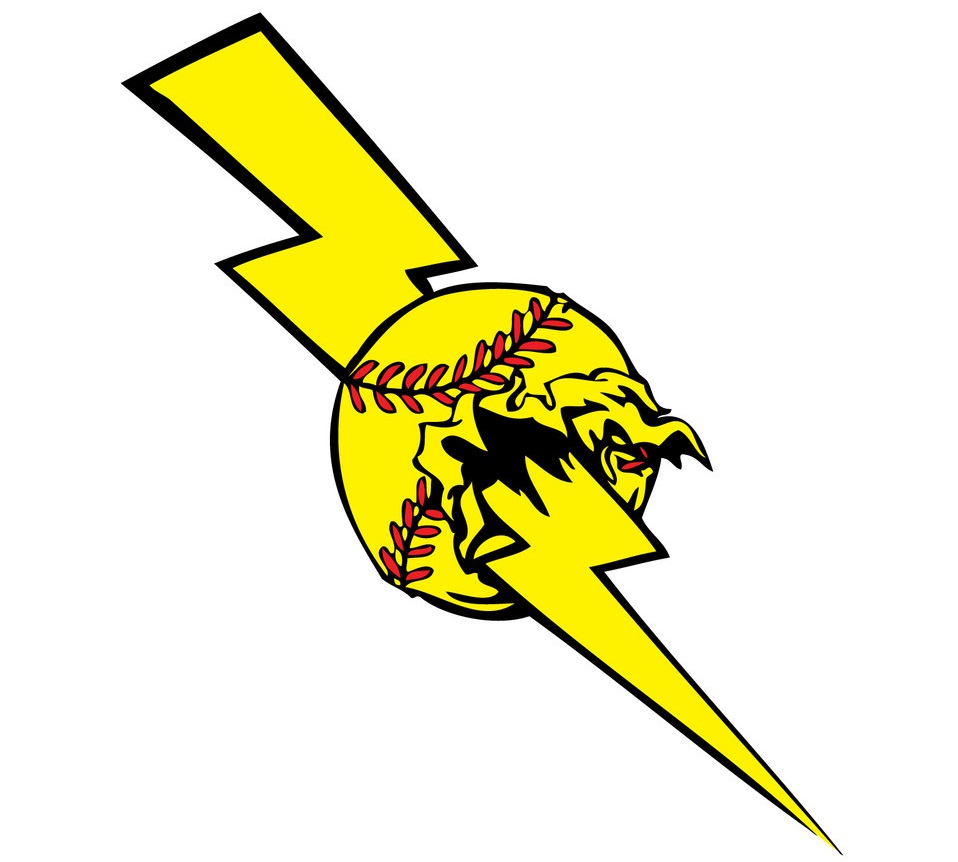 softball lightening bolt