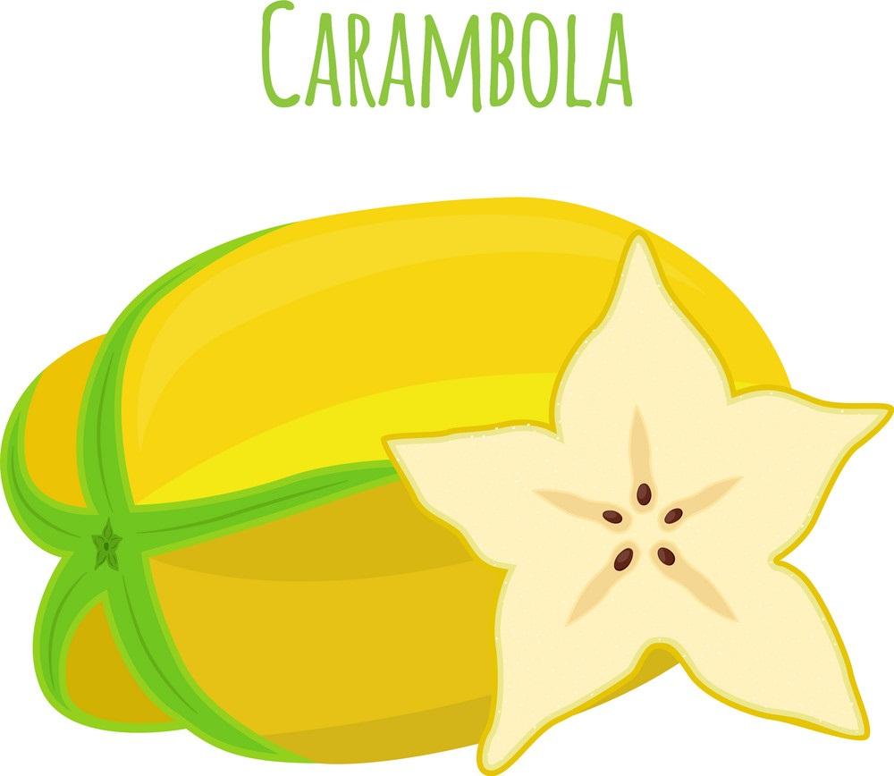 Star Fruit Clipart