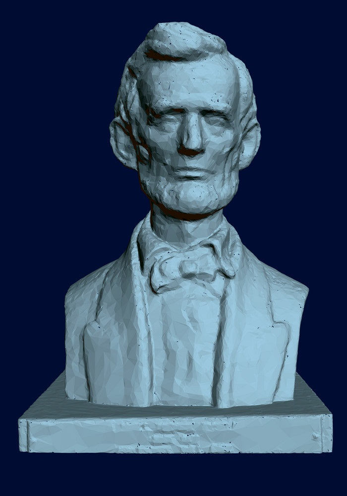 statue abraham lincoln 3D