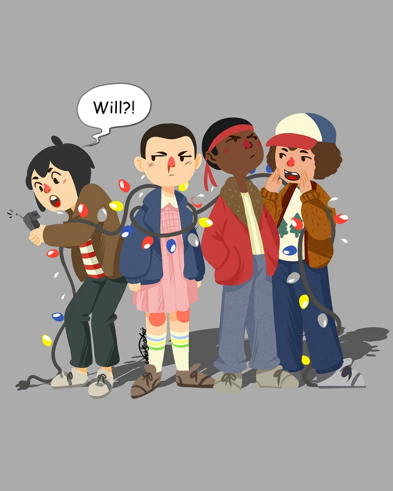 stranger things friends group