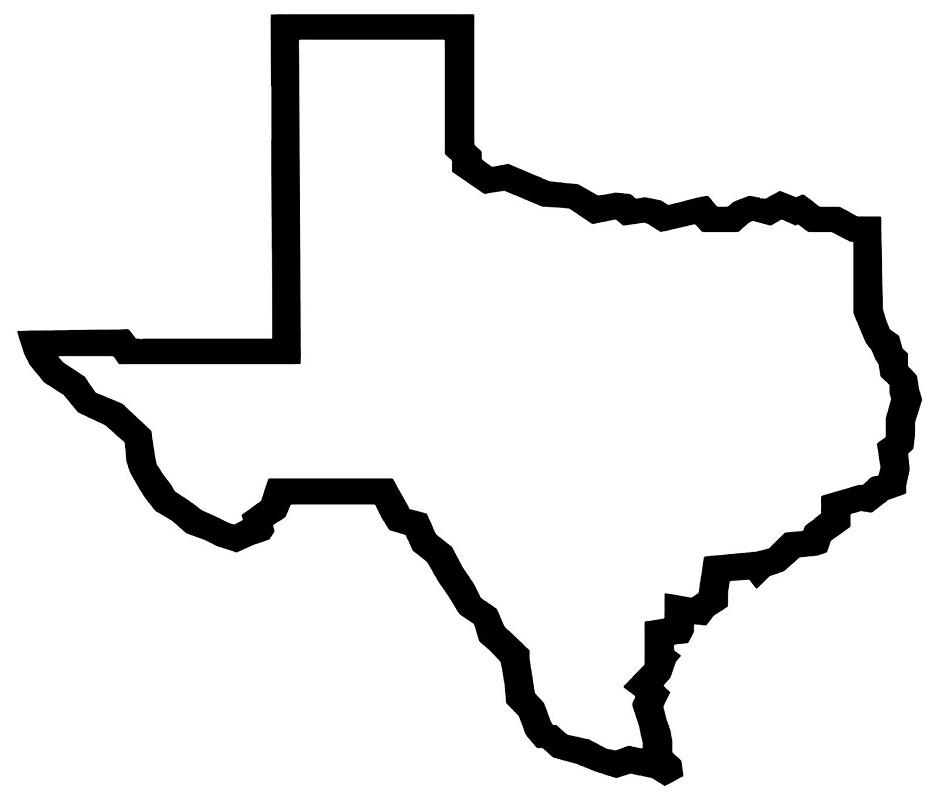 texas outline