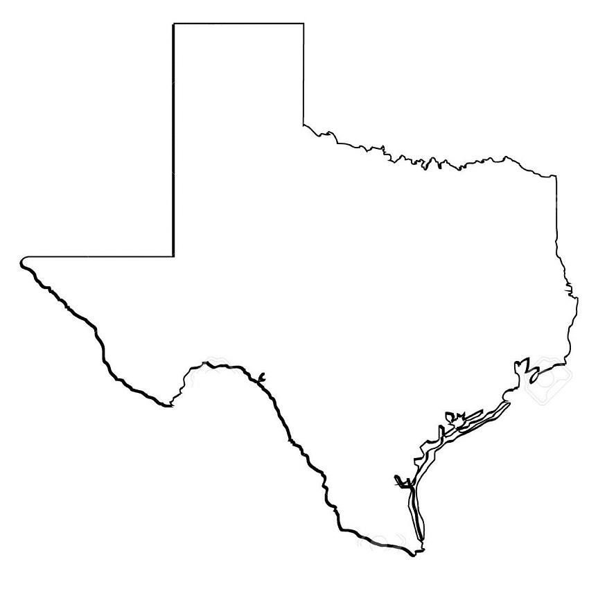 texas outline 2