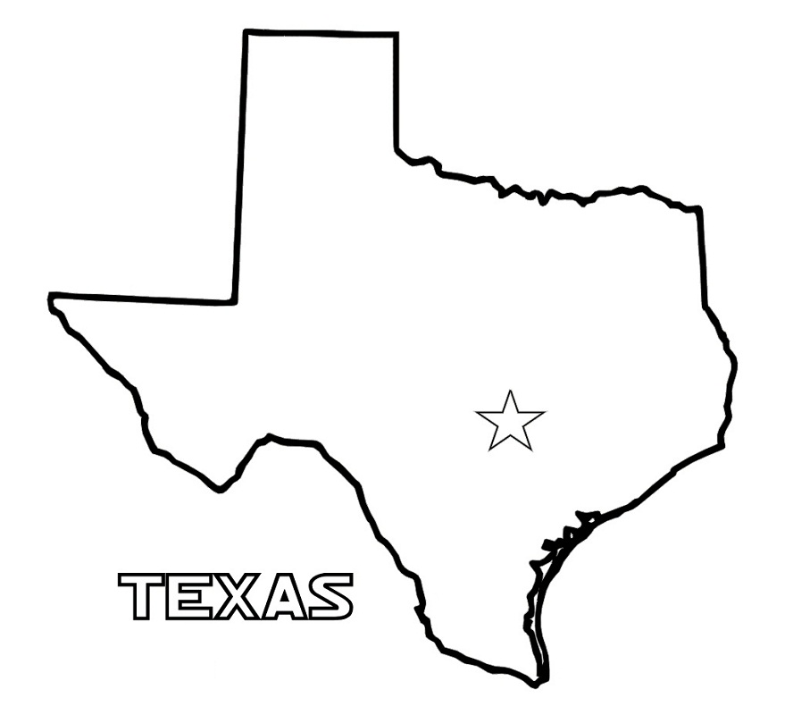 texas outline 5
