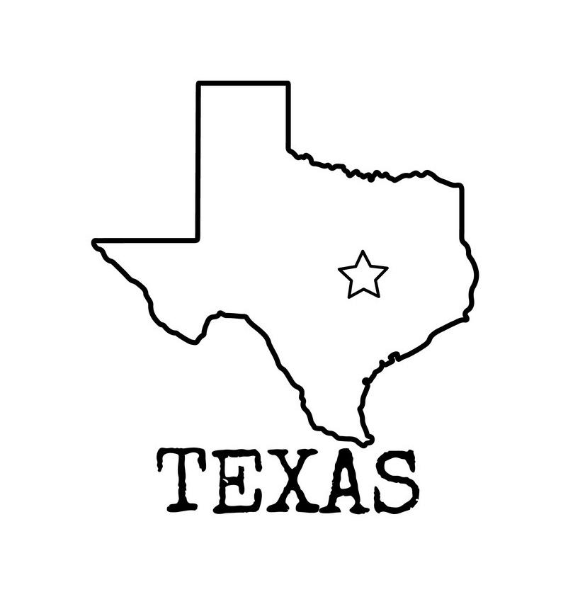 texas outline 6