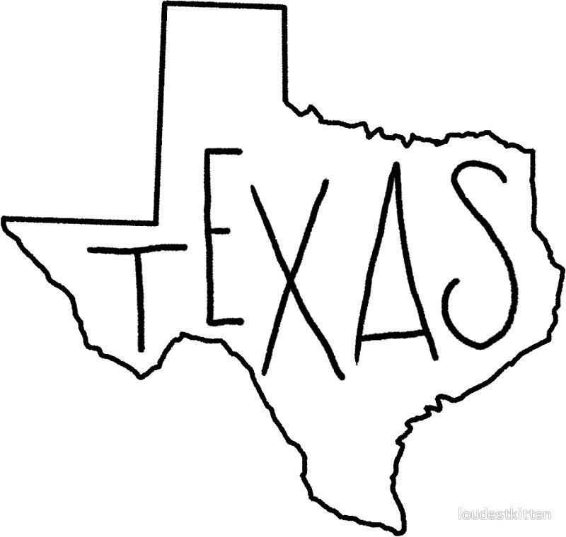 texas outline 8