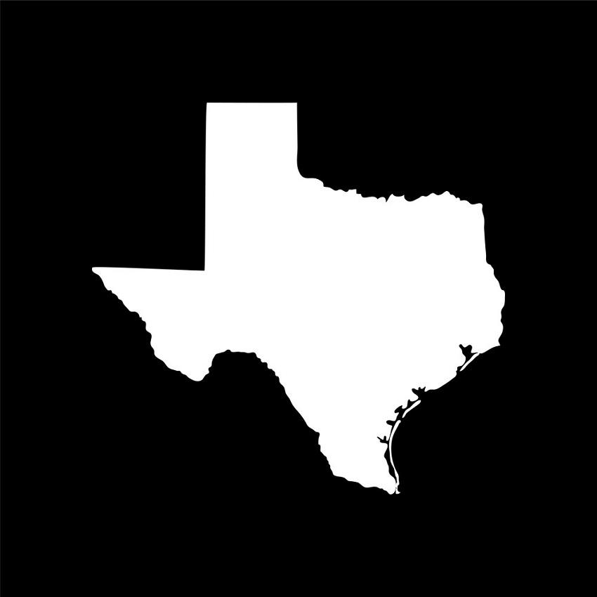 texas outline on black back ground