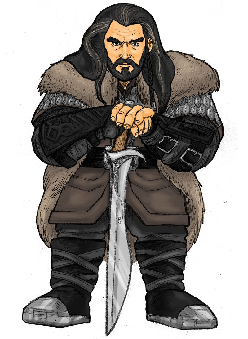 thorin oakenshield with his sword