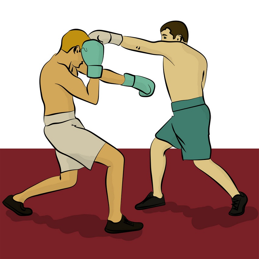 two boxing fighters