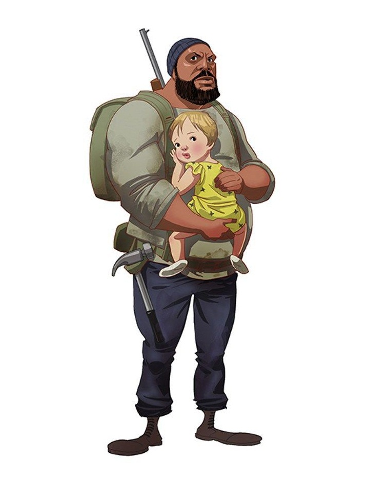 tyreese and baby