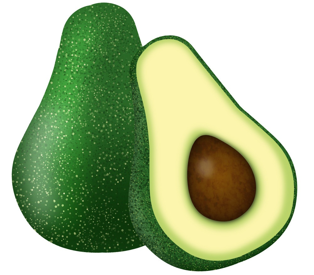 under-ripe avocado