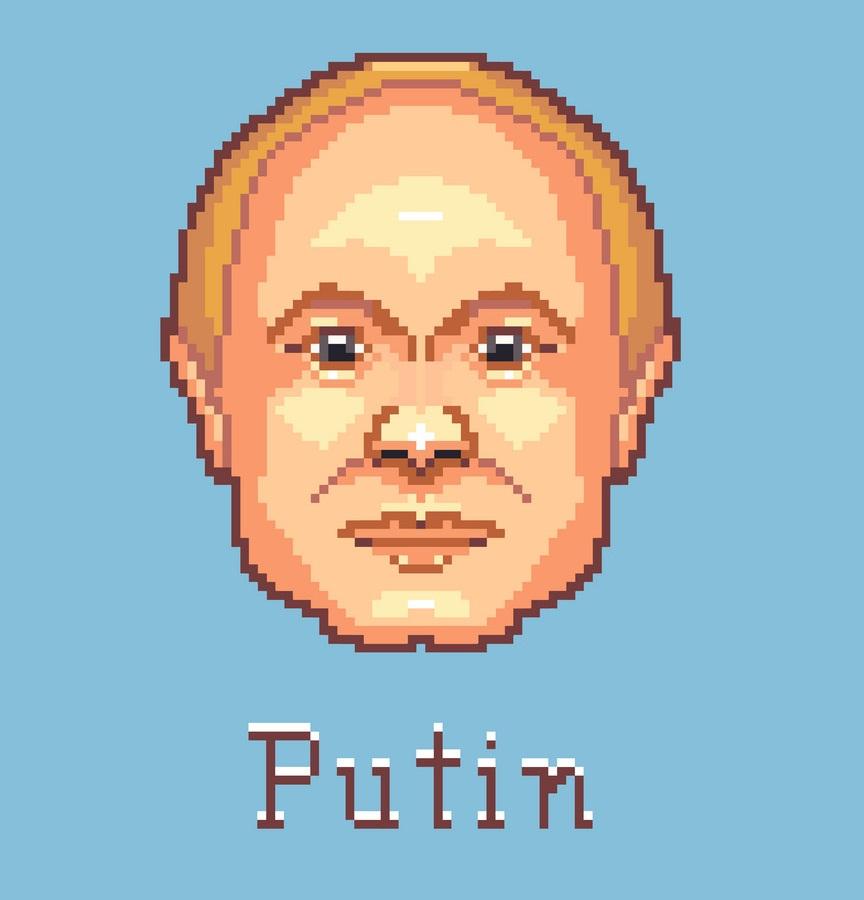vladimir putin pixel art