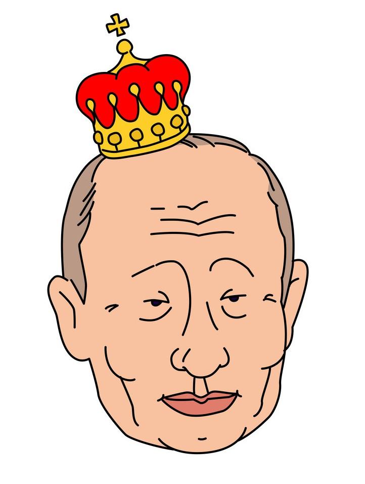vladimir putin with crown