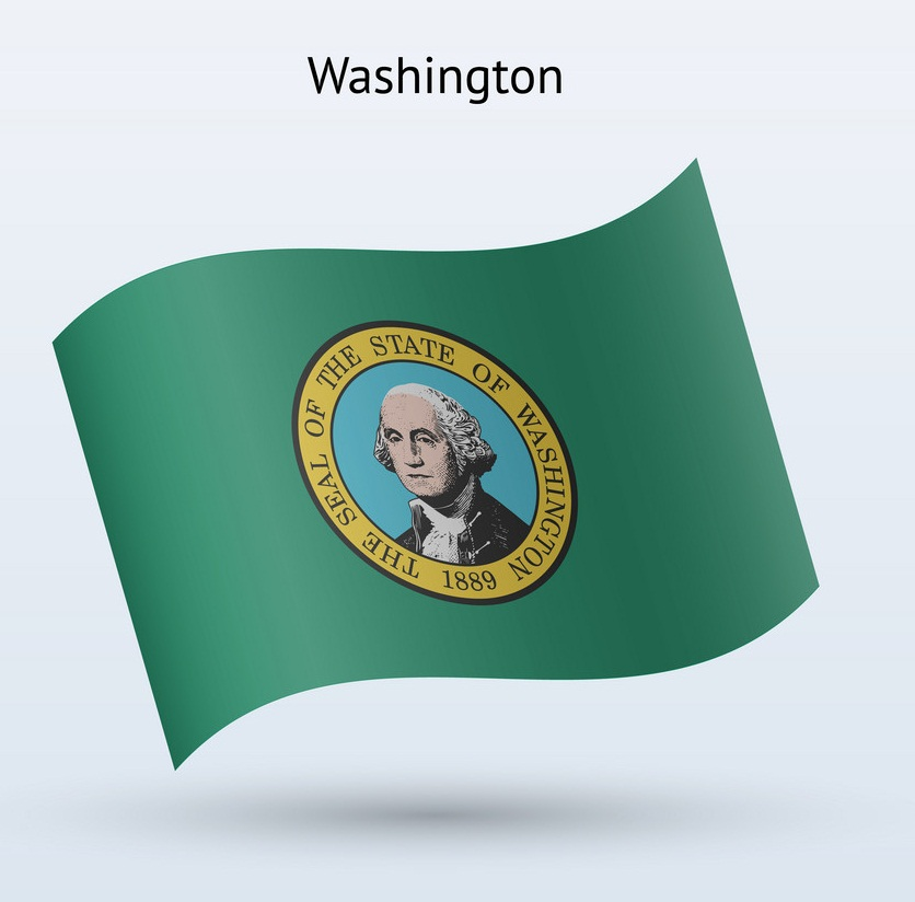 washington flag waving