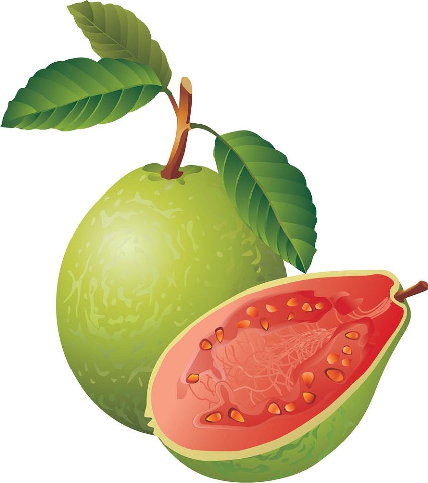 whole and half guava