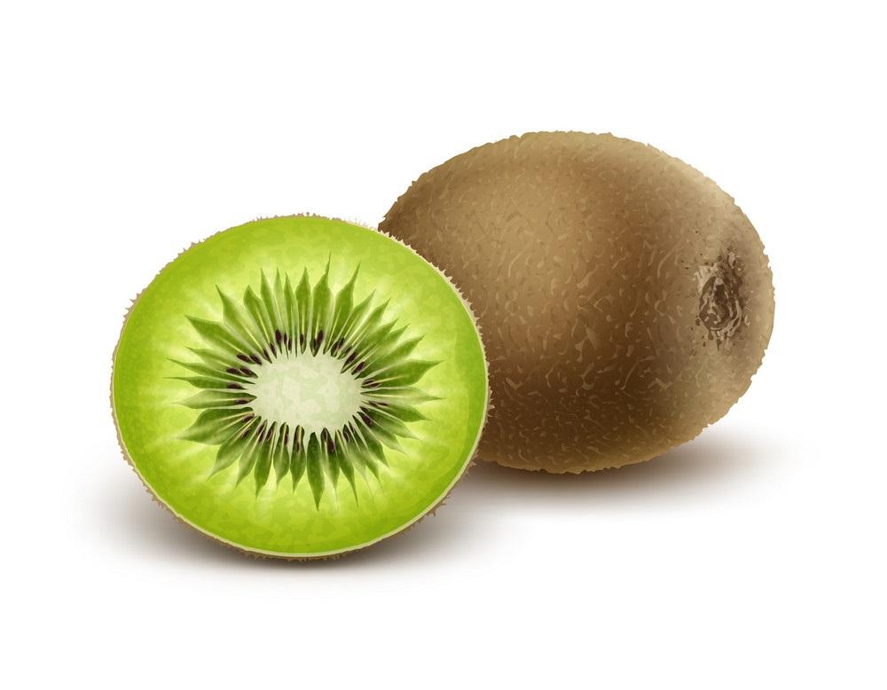 whole and half kiwi