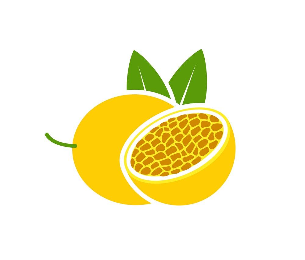yellow passion fruit icon