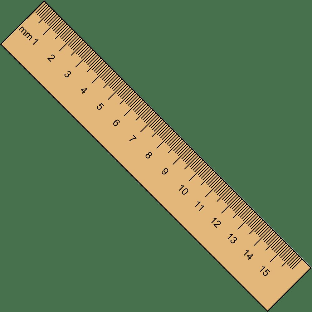 15cm ruler png transparent