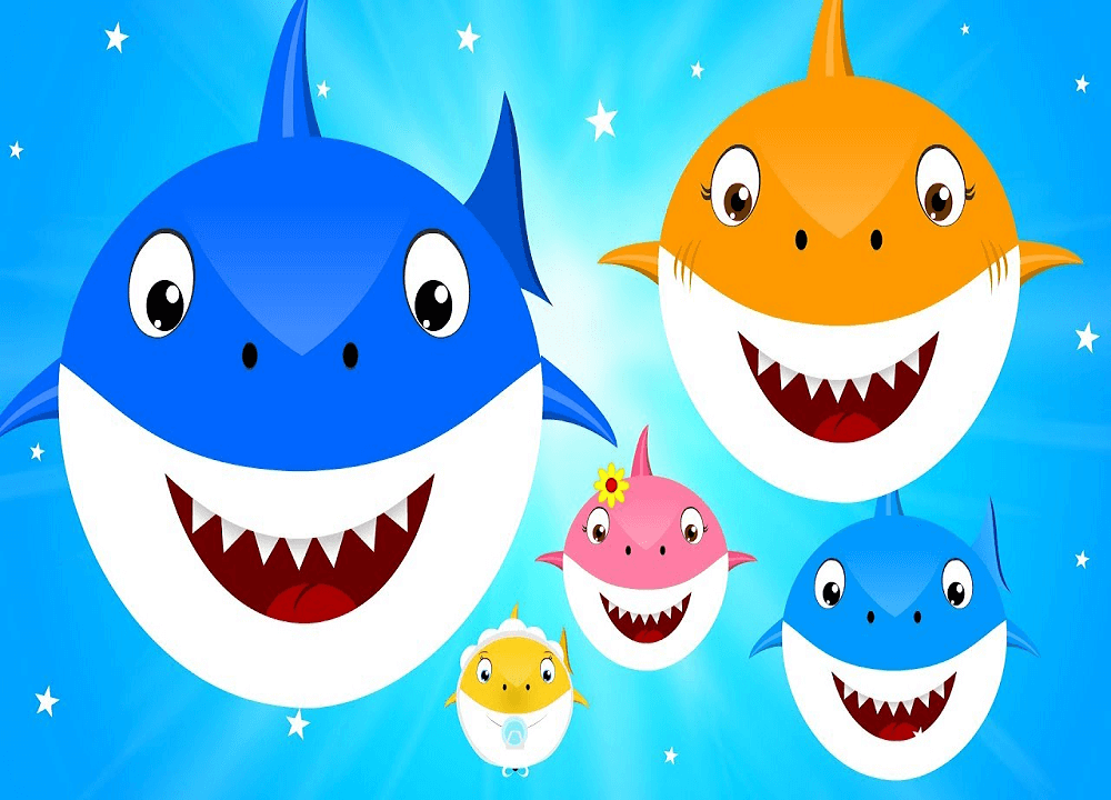 Happy Baby Shark Family clipart