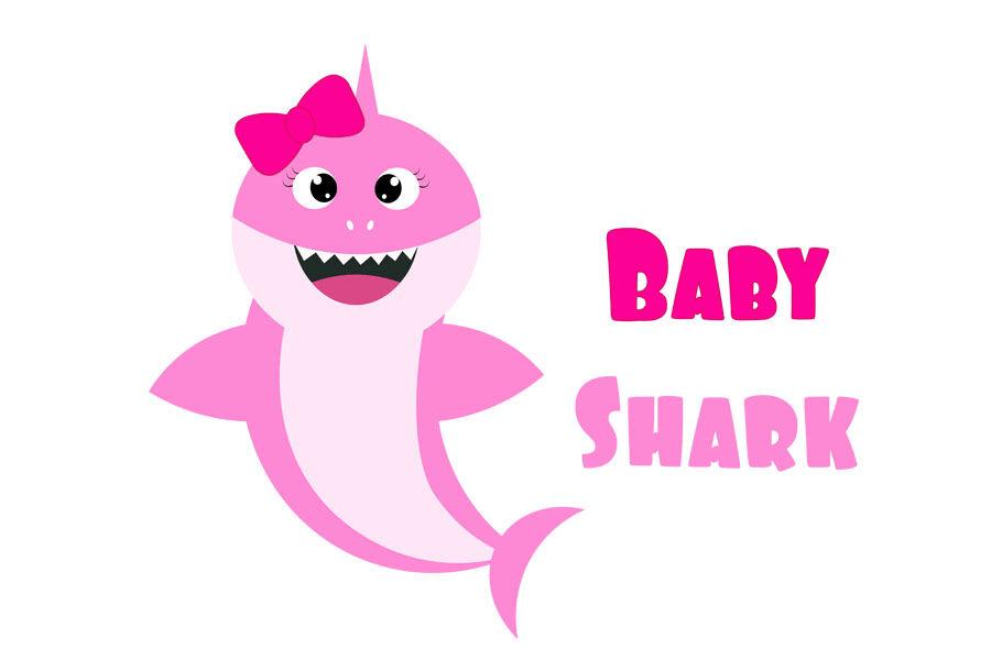 Lovely Baby Shark clipart