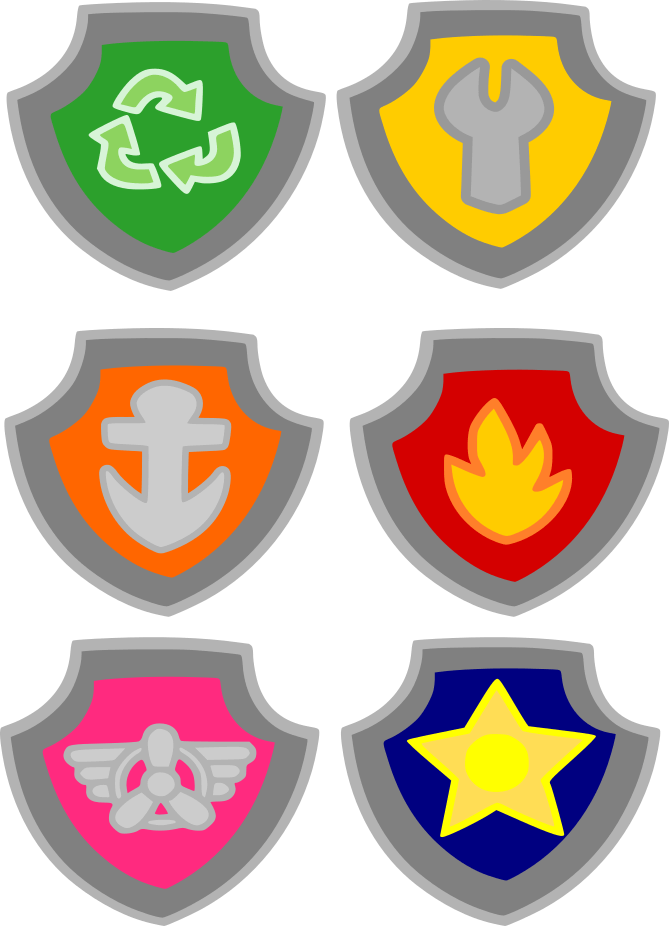 Paw Patrol Badge clipart png