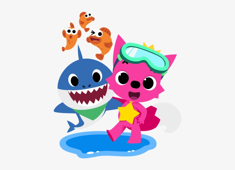 Pinkfong and Baby Shark clipart