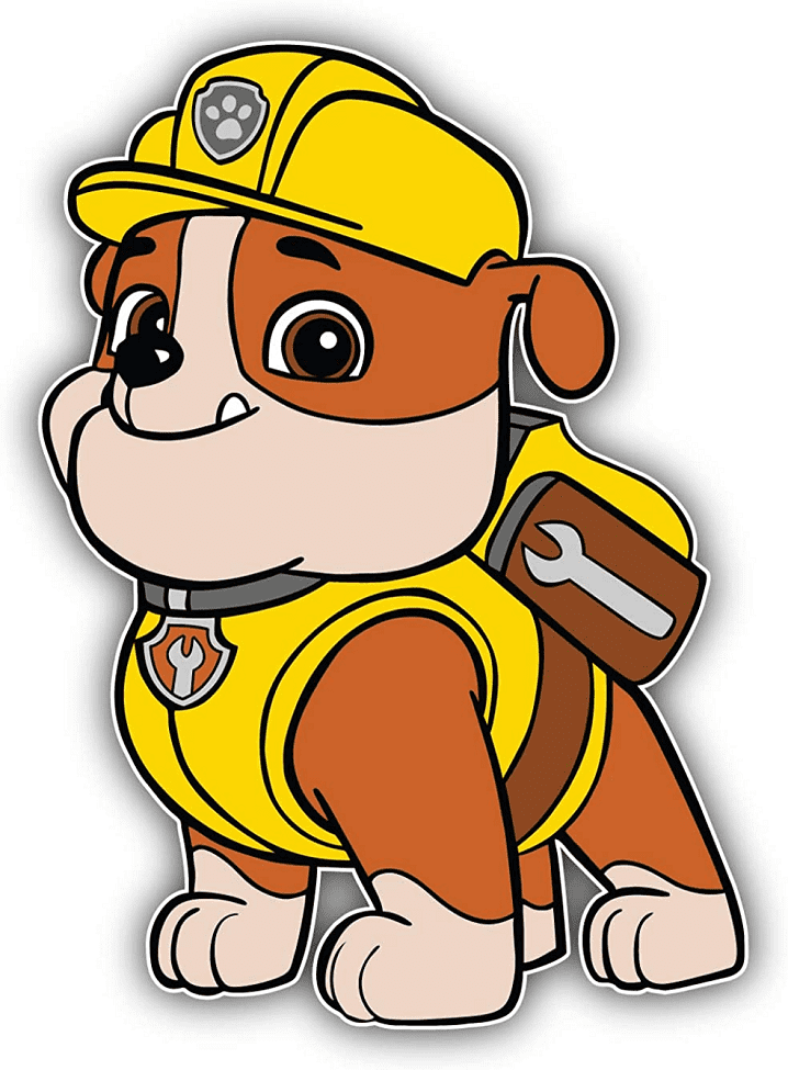 Rubble Paw Patrol clipart png