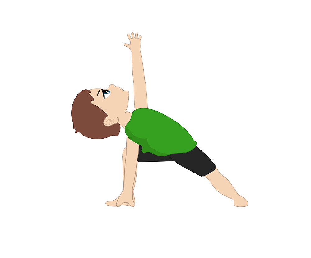 a boy doing yoga png transparent