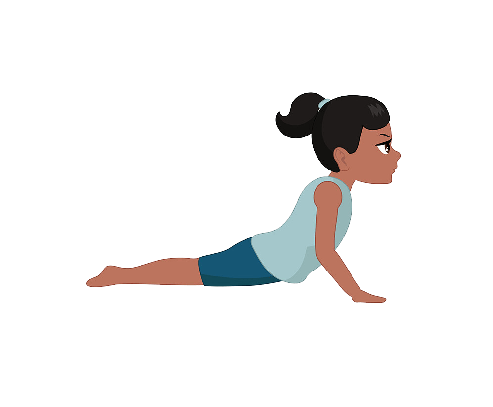 a child doing yoga png transparent