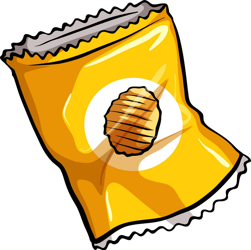 a pouch of chips png