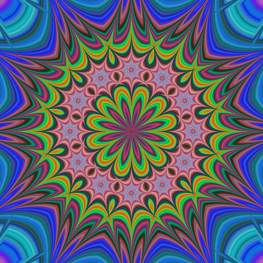 abstract floral fractal kaleidoscope png