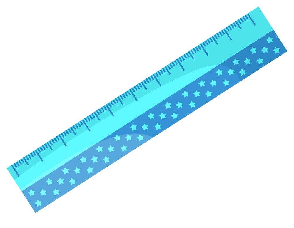 adorable blue ruler with stars png