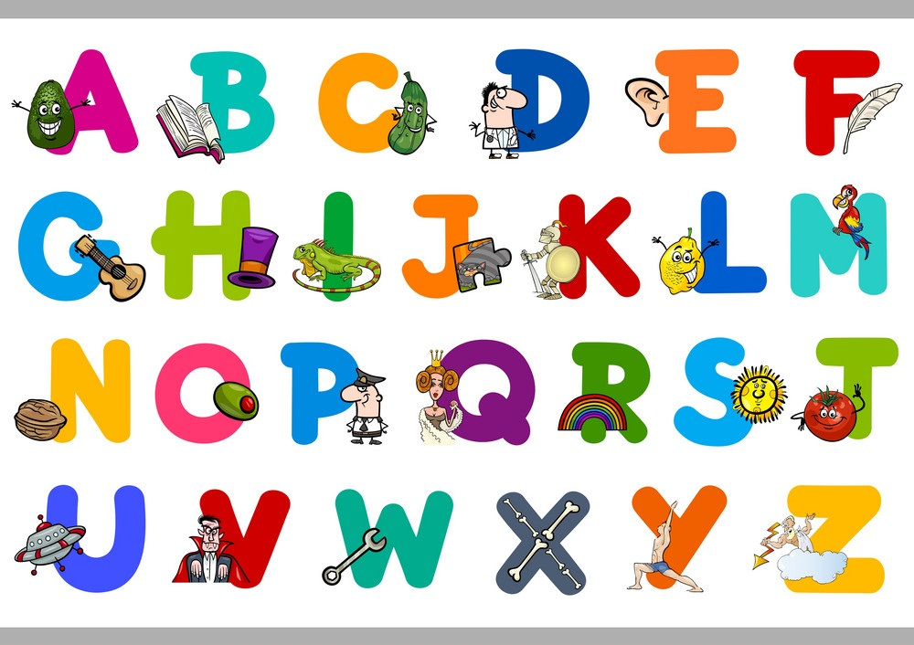 alphabet with objects