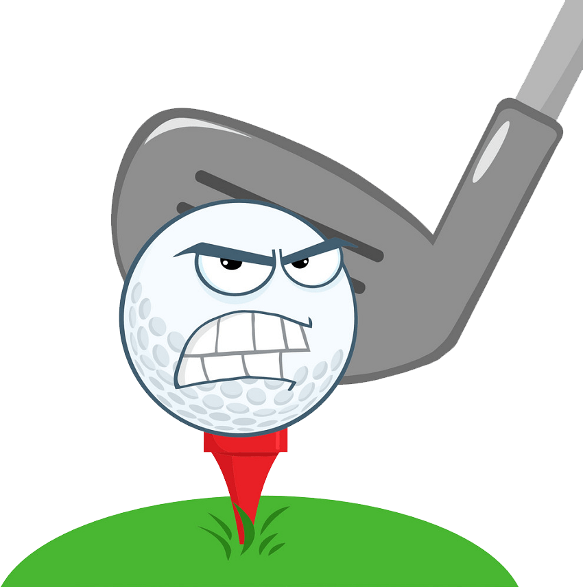 angry golf ball png transparent