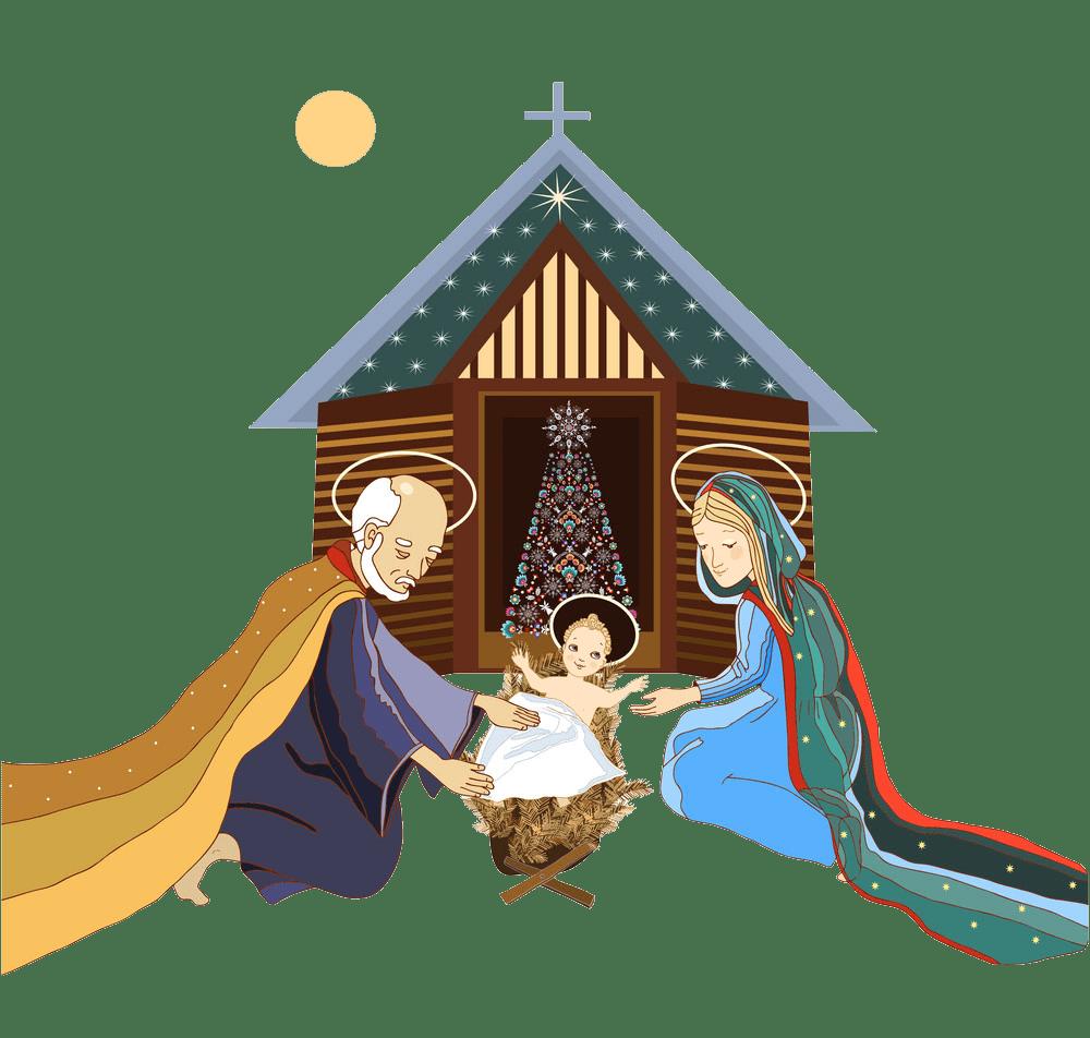 animated nativity scene transparent