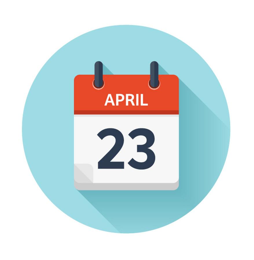 april 23 icon png