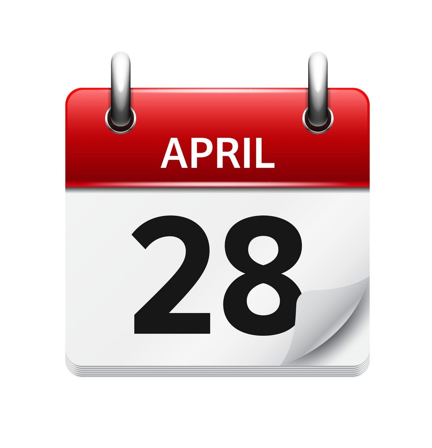 april 28 flat daily calendar icon