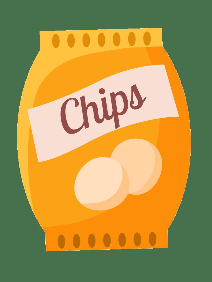 bag of potato chips snack transparent