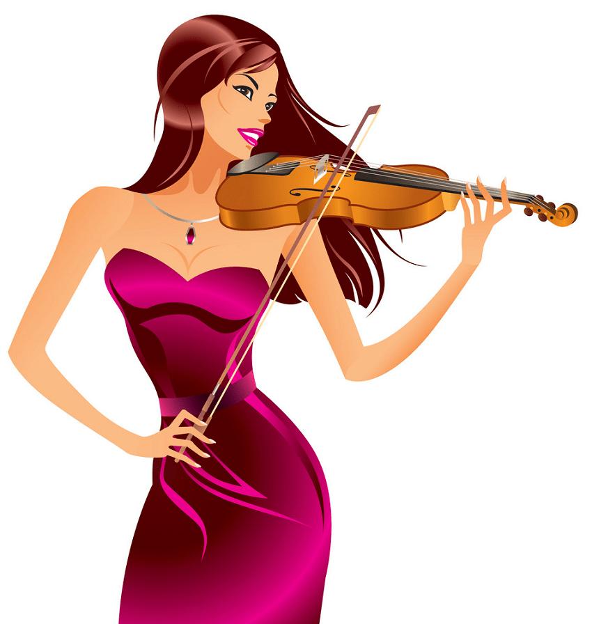 beautiful woman playing violin png