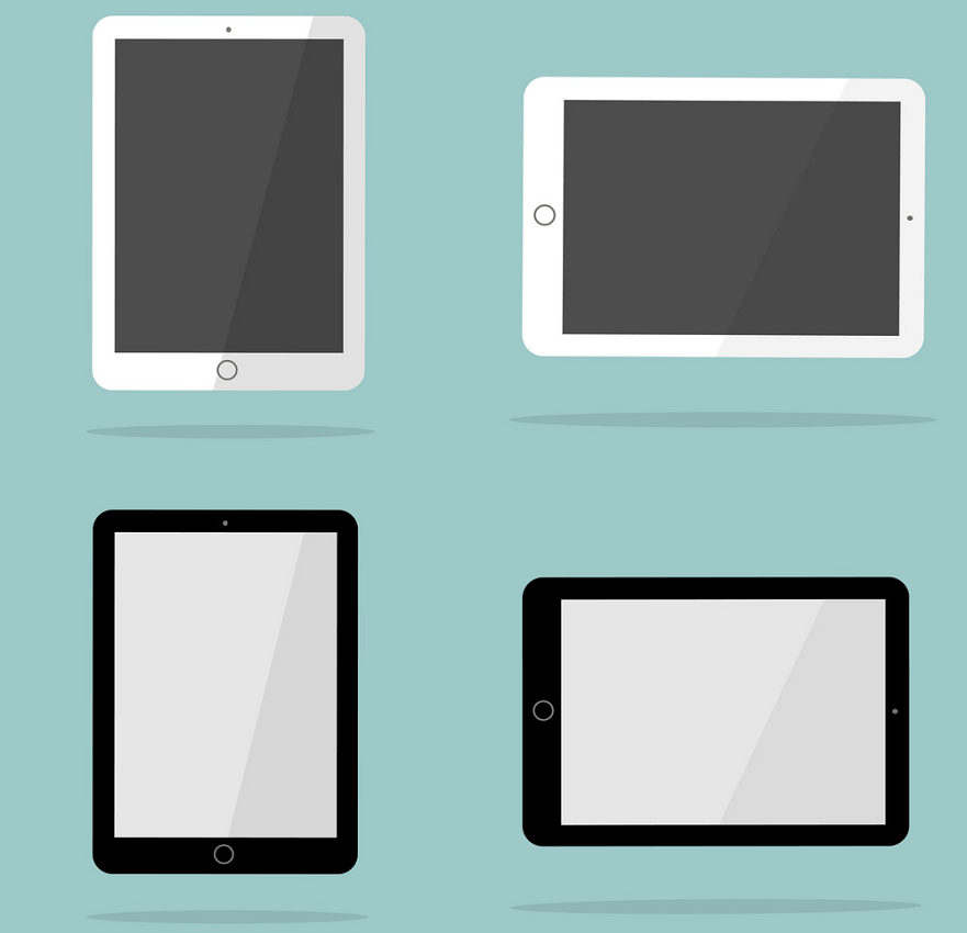 black and white ipad png