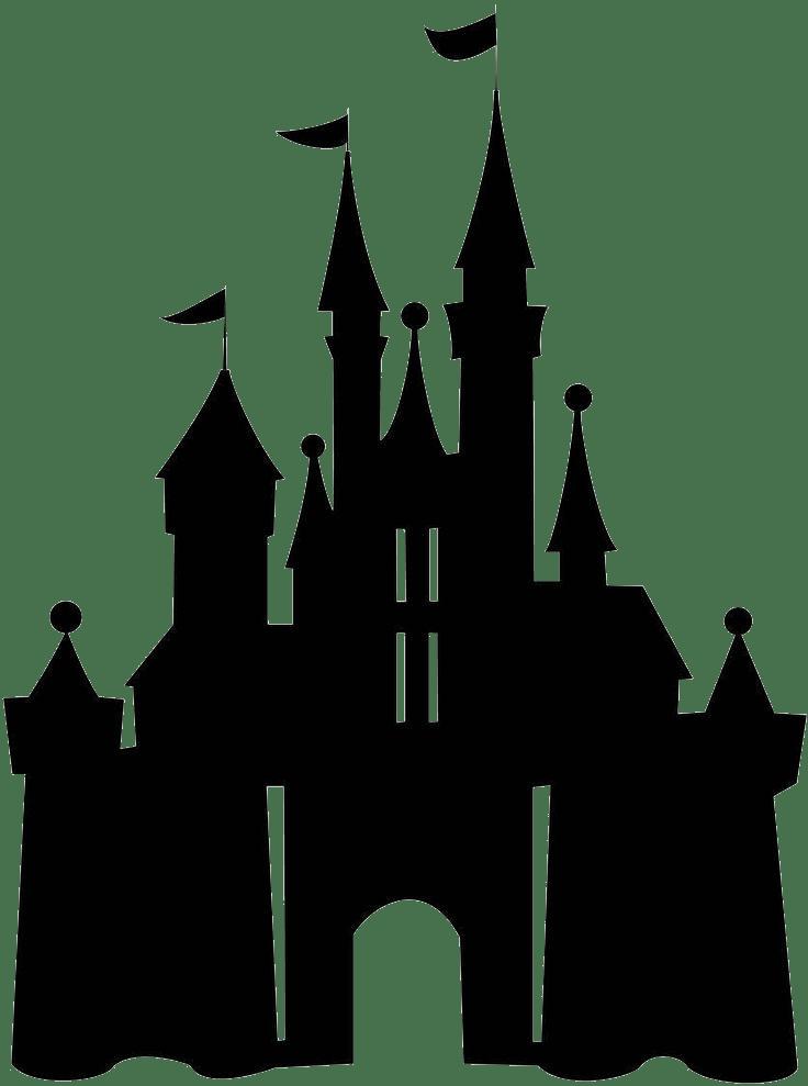 black disney castle transparent