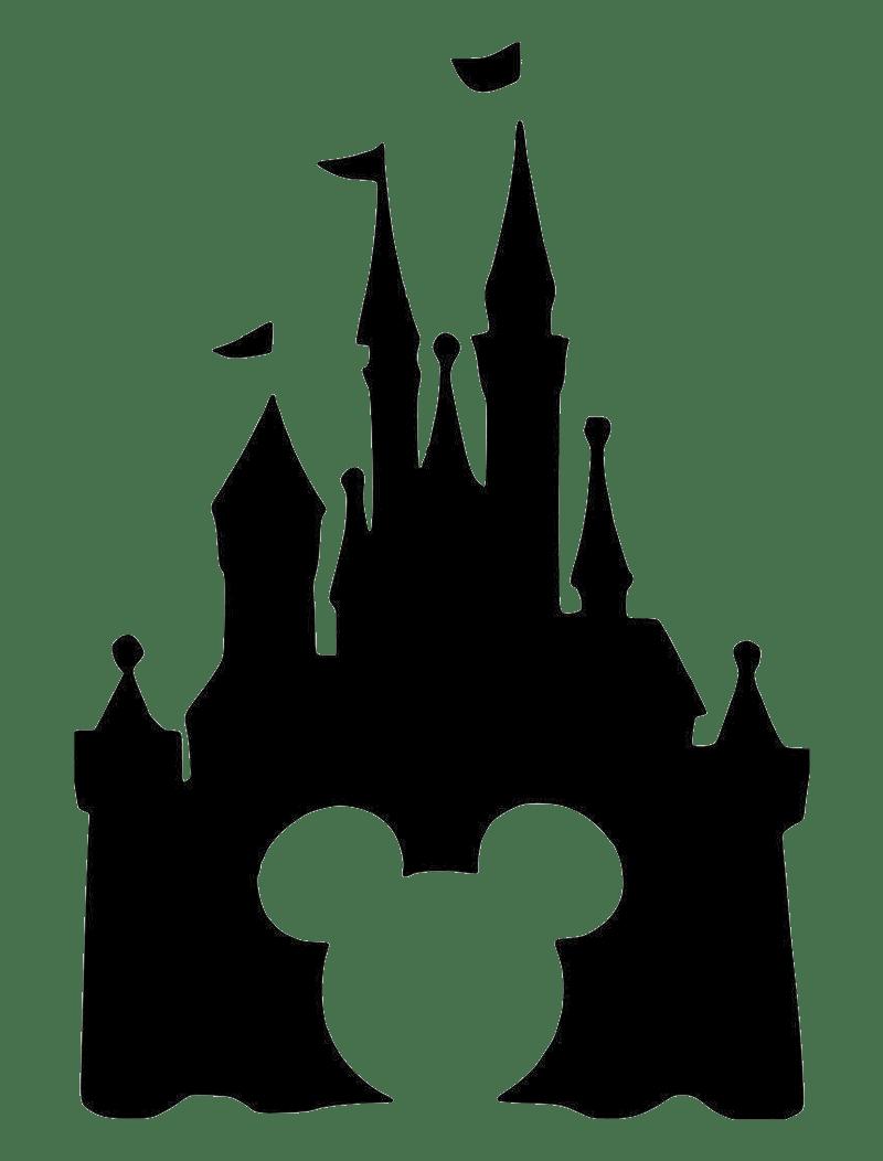 black icon disney castle transparent