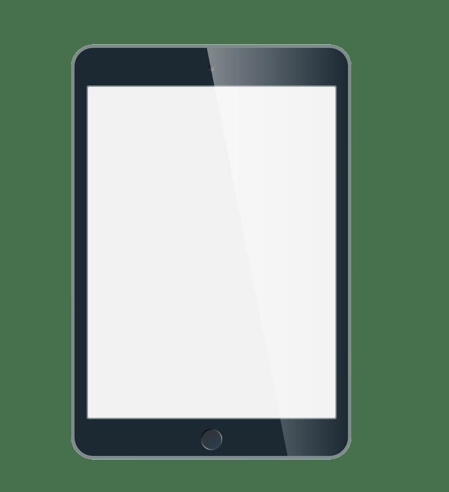 black ipad mini png transparent